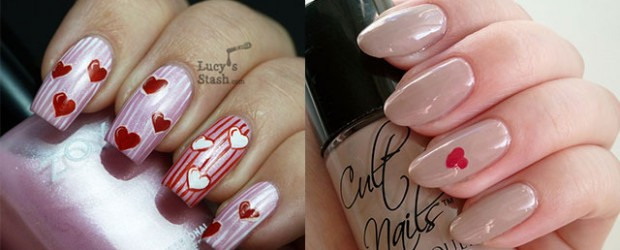 Very-Simple-Easy-Valentines-Day-Nail-Art-Designs-Ideas-For-Learners-2014