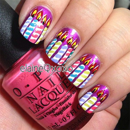 10-Amazing-Happy-B-Day-Candle-Nail-Art-Designs-Ideas-2014-For-Girls-1