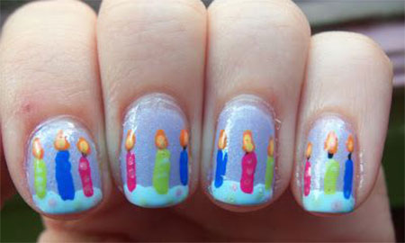 10-Amazing-Happy-B-Day-Candle-Nail-Art-Designs-Ideas-2014-For-Girls-11