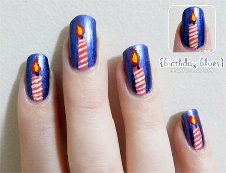 10-Amazing-Happy-B-Day-Candle-Nail-Art-Designs-Ideas-2014-For-Girls-12