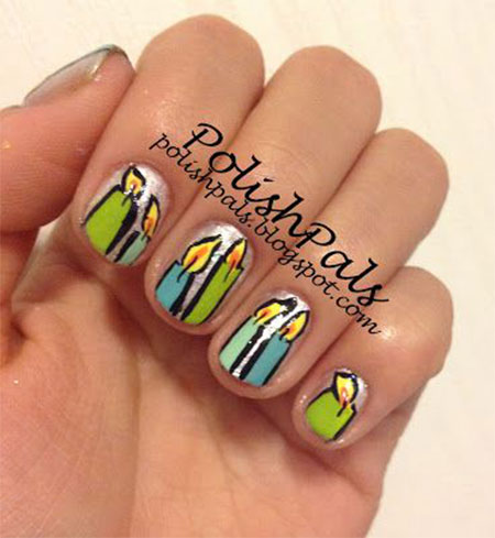 10-Amazing-Happy-B-Day-Candle-Nail-Art-Designs-Ideas-2014-For-Girls-4