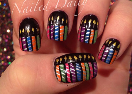 10-Amazing-Happy-B-Day-Candle-Nail-Art-Designs-Ideas-2014-For-Girls-6