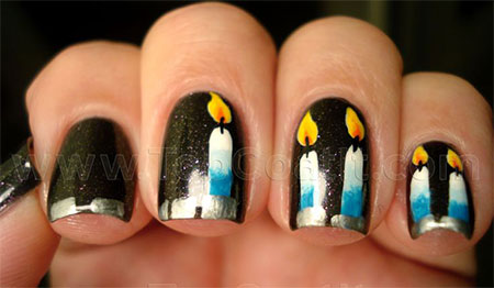 10-Amazing-Happy-B-Day-Candle-Nail-Art-Designs-Ideas-2014-For-Girls-7