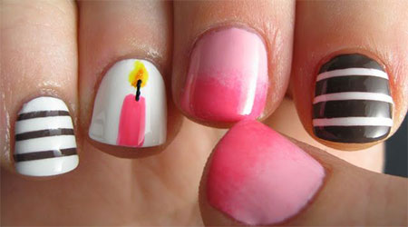 10-Amazing-Happy-B-Day-Candle-Nail-Art-Designs-Ideas-2014-For-Girls-8