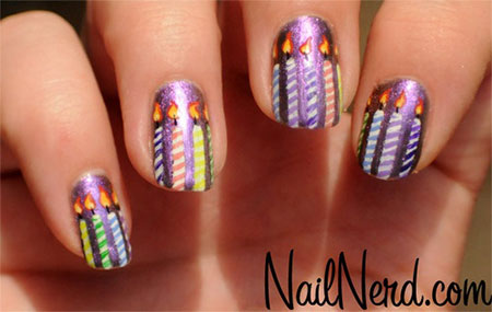10-Amazing-Happy-B-Day-Candle-Nail-Art-Designs-Ideas-2014-For-Girls-9