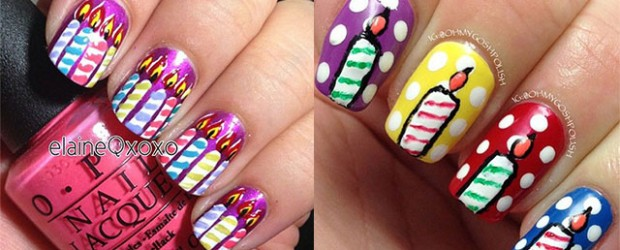 10-Amazing-Happy-B-Day-Candle-Nail-Art-Designs-Ideas-2014-For-Girls