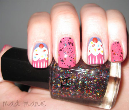 10 + Awesome Happy B Day Cake Nail Art Designs & Ideas ...
