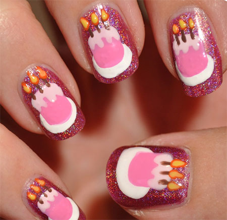 10-Awesome-Happy-B-Day-Cake-Nail-Art-Designs-Ideas-2014-For-Girls-7