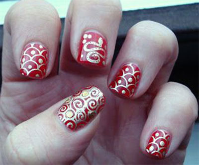 Amazing chinese new year nail art designs ideas 2014 fabulous amazing chinese new year nail art designs ideas prinsesfo Images