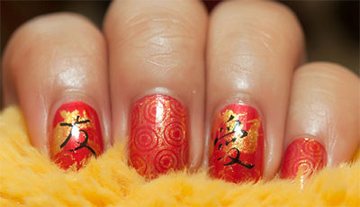 Amazing-Chinese-New-Year-Nail-Art-Designs-Ideas-2014-8