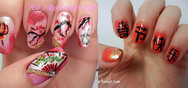 Amazing Chinese New Year Nail Art Designs Ideas 2014 Fabulous