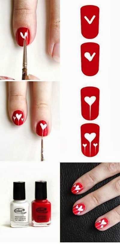 Amazing-Valentines-Day-Nail-Art-Tutorials-2014-For-Beginners-Learners-3