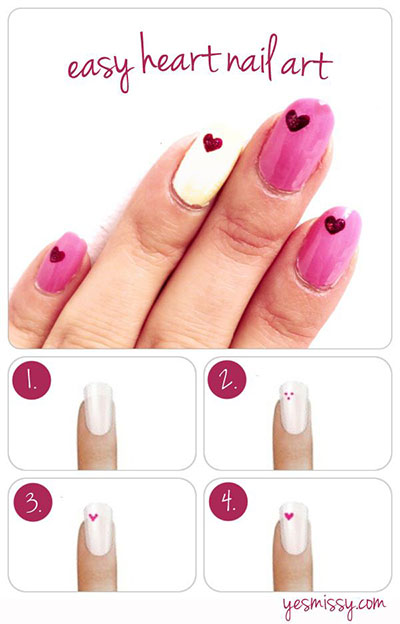 Amazing-Valentines-Day-Nail-Art-Tutorials-2014-For-Beginners-Learners-4