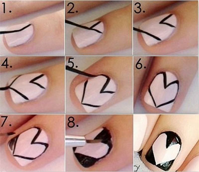 Amazing-Valentines-Day-Nail-Art-Tutorials-2014-For-Beginners-Learners-9