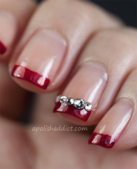 30 Inspiring Red Nail Art Designs for Wedding 2015/16