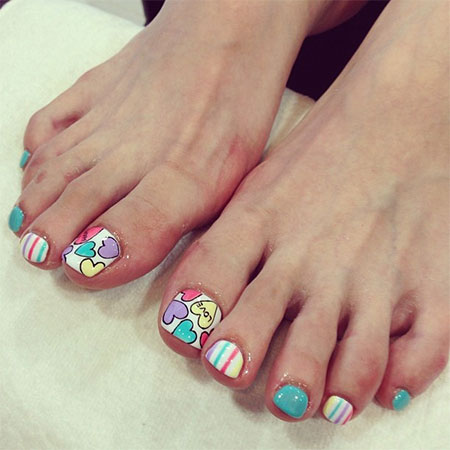 Nail art designs for pedicure best nails 2018 cute valentine s day toe nail art designs ideas 2016 fabulous prinsesfo Gallery