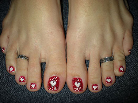 Cute Valentine S Day Toe Nail Art Designs Amp Ideas 2014 Fabulous Nail Art Designs