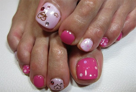 Cute Valentine\'s Day Toe Nail Art Designs & Ideas 2014 | Fabulous ...