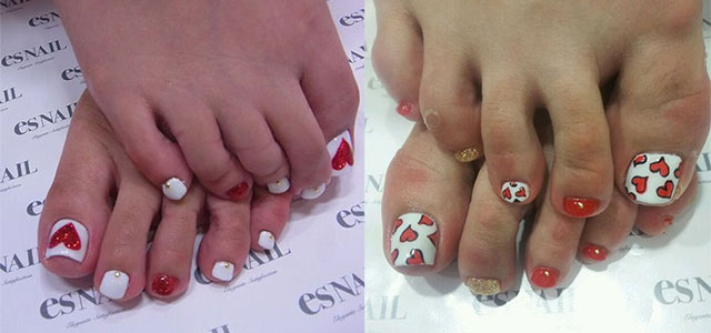 Cute Valentines Day Toe Nail Art Designs Ideas 2014 Fabulous