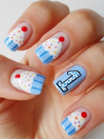 Easy-Birthday-Nails-Designs-Ideas-2014-1
