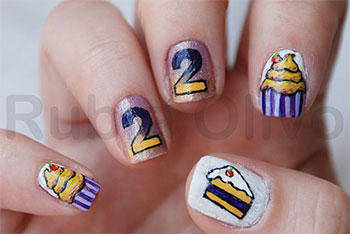 Easy-Birthday-Nails-Designs-Ideas-2014-14