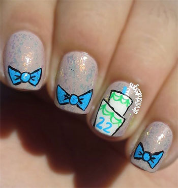 Easy Birthday Nails Designs & Ideas 2014 | Fabulous Nail Art Designs