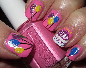 Easy-Birthday-Nails-Designs-Ideas-2014-7