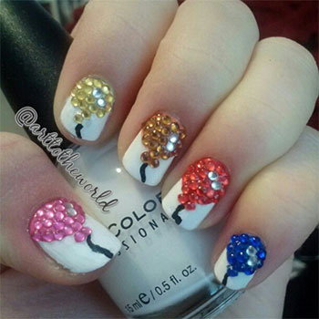 Easy-Birthday-Nails-Designs-Ideas-2014-8