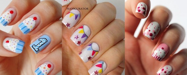 easy birthday nails designs ideas 2014