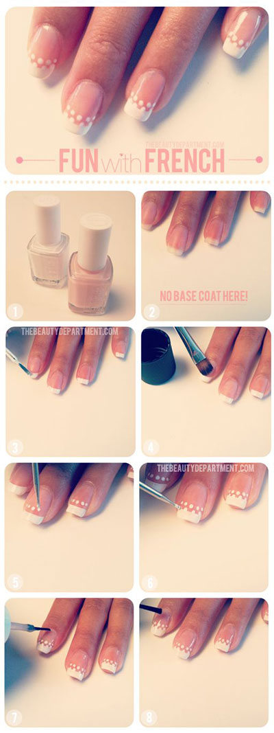 Easy-Bridal-Wedding-Nail-Art-Tutorials-For-Girls-2014-4