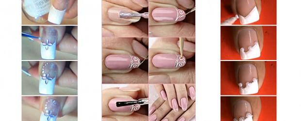 Easy-Bridal-Wedding-Nail-Art-Tutorials-For-Girls-2014