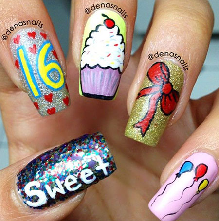 Happy-Birthday-Nail-Art-Designs-Ideas-2014-6