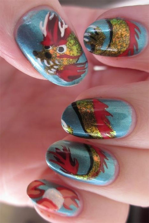 Inspiring Chinese New Year Nail Art Designs Amp Ideas 2014 Fabulous Nail Art Designs