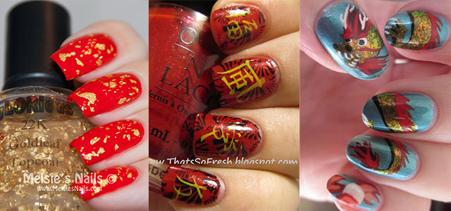 Inspiring Chinese New Year Nail Art Designs & Ideas 2014 →