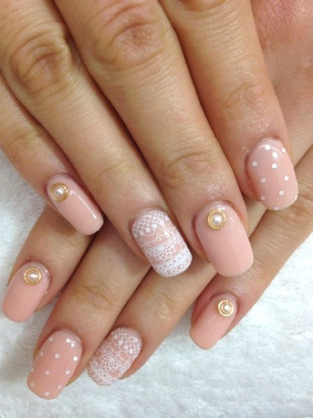Simple-Pink-Wedding-Nail-Art-Designs-Ideas-2014-1