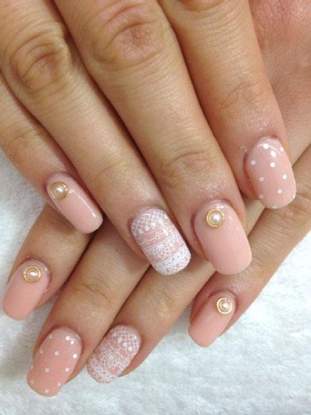 Simple-Pink-Wedding-Nail-Art-Designs-Ideas-2014-1
