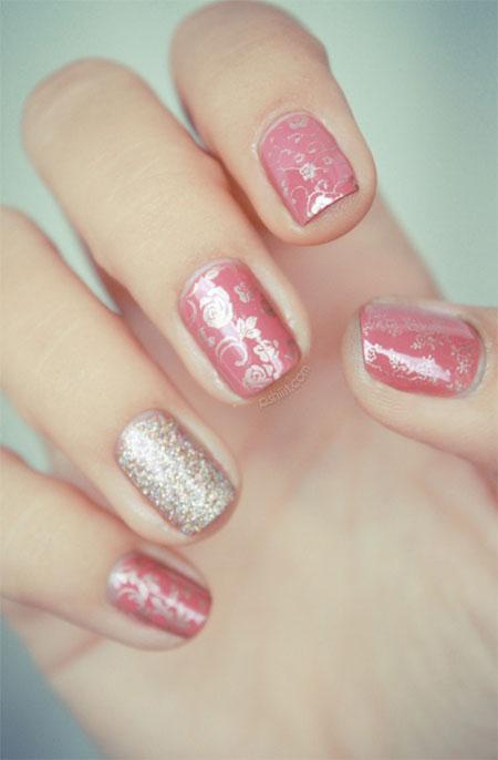 Simple-Pink-Wedding-Nail-Art-Designs-Ideas-2014-15