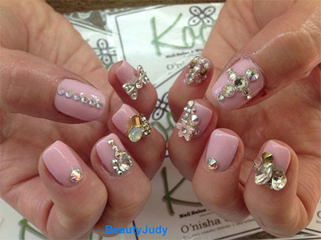 Simple-Pink-Wedding-Nail-Art-Designs-Ideas-2014-8