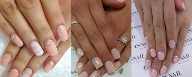 Simple-Pink-Wedding-Nail-Art-Designs-Ideas-2014