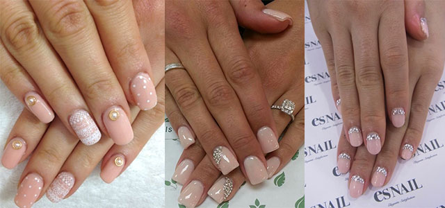 Simple-Pink-Wedding-Nail-Art-Designs-Ideas-2014