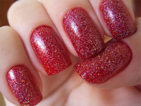 Simple Red Wedding Nail Art Designs Ideas 2014 Fabulous Nail Art