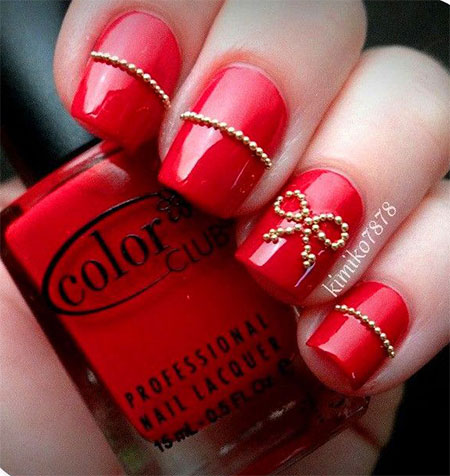 Simple Red Wedding Nail Art Designs amp; Ideas 2014  Fabulous Nail Art