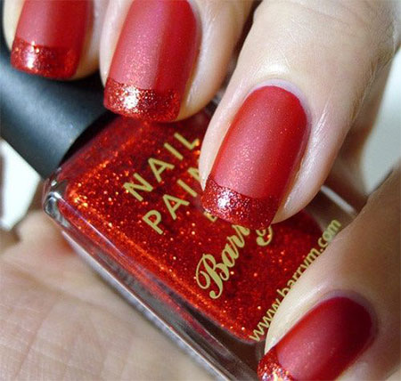 Red Wedding Nail Art Designs 2015