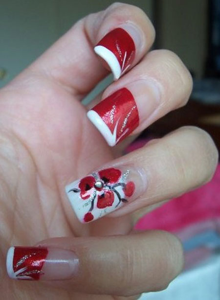 Red Wedding Nail Art Designs amp; Ideas 2014  Fabulous Nail Art