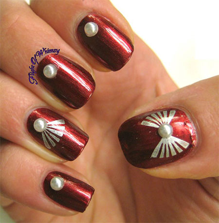 Simple-Red-Wedding-Nail-Art-Designs-Ideas-2014-9