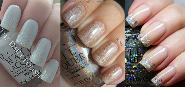 Smashing Glitter Wedding Nail Art Designs Ideas 2014