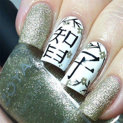 Stunning-Chinese-Symbol-Flower-Nail-Art-Designs-Ideas-2014-1