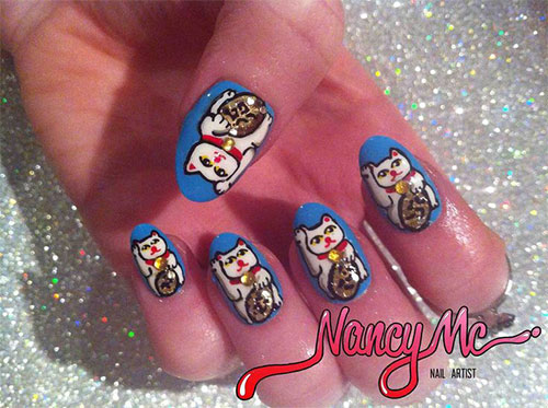 Stunning-Chinese-Symbol-Flower-Nail-Art-Designs-Ideas-2014-10