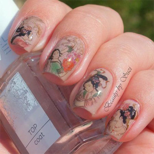 Stunning-Chinese-Symbol-Flower-Nail-Art-Designs-Ideas-2014-2