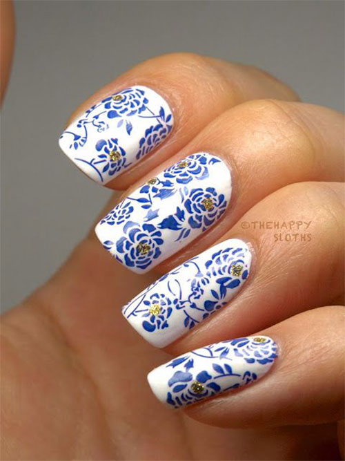 Stunning-Chinese-Symbol-Flower-Nail-Art-Designs-Ideas-2014-4
